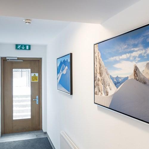 Little Haus, ski accommodation in St Anton, Austria. Corridor and interior.