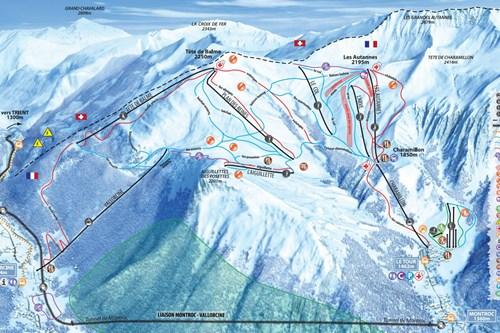 Vallorcine-and-le-tour-piste-map