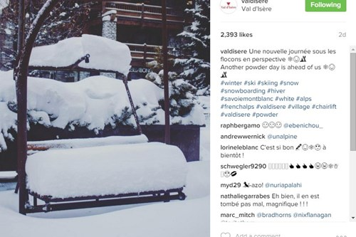 *Good snow depth in Val d'Isere.