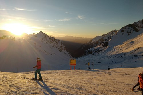 twilight skiing in st anton, best ski pistes
