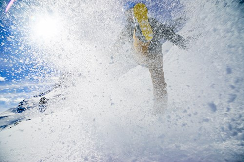 Morzine, kicking snow spray.jpg