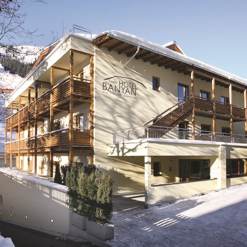 Hotel Banyan, ski accommodation in St Anton, Austria. Exterior view