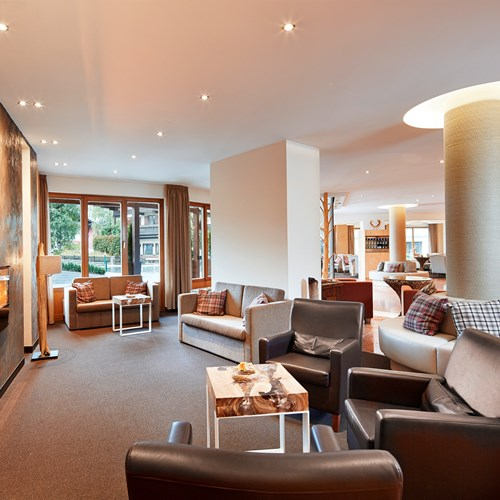 Alpenhaus Hotel, Kaprun, reception and lounge