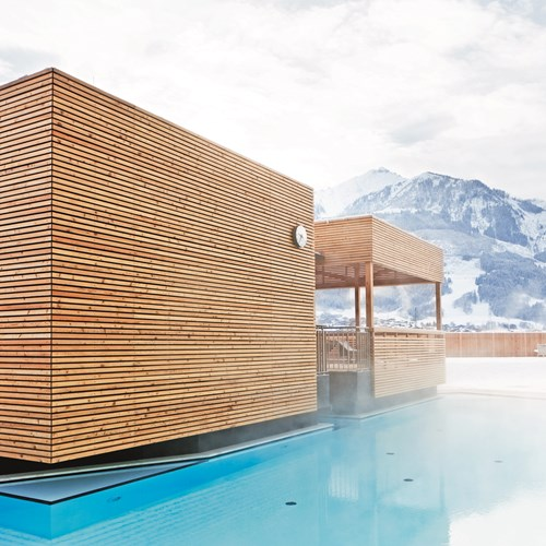 Hotel Tauern Spa, Kaprun, ski accommodation, outdoor pool in the mountains