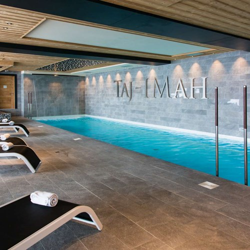 Hotel Taj-i Mah, ski hotel in Les Arcs, France - indoor swimming pool