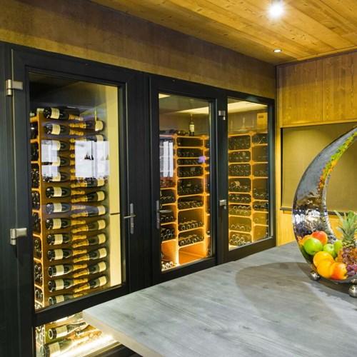 Hotel Taj-i Mah, ski in, ski out hotel in Les Arcs, France - wine cellar