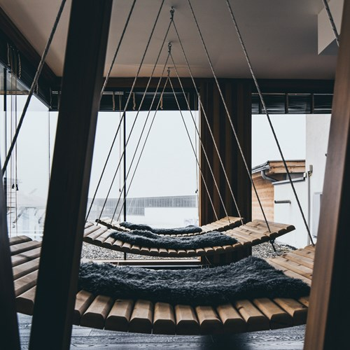The Crystal Lifestyle Hotel, ski accommodation, Austria, indoor hammocks