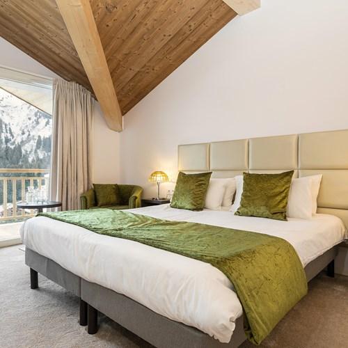 guest room at the Hotel Le Mottaret, Meribel, France