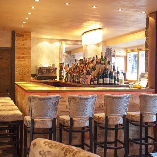 Hotel Le Mottaret bar and chairs, Meribel ski resort
