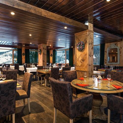 restaurant at Hotel Le mottaret, ski hotel in Meribel Mottaret