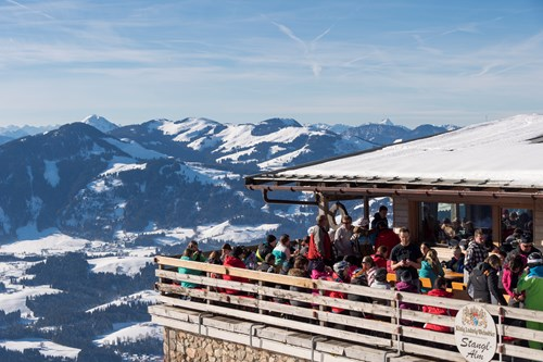 Ski resort in Austria - St Johann. Apres skiing, rooftop bar