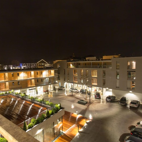 Balcony view at Hotel & Wirtshaus Post, ski accommodation in St Johann