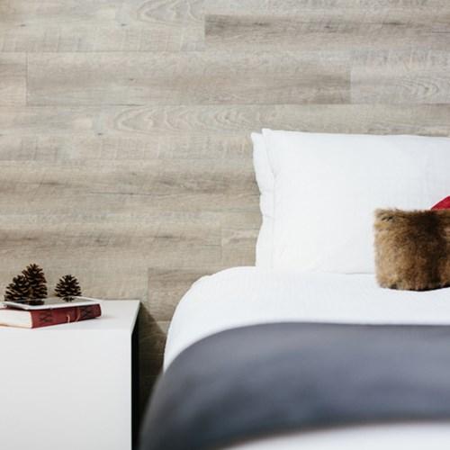 Elk + Avenue Hotel, contemporary ski hotel in Banff, Canada. Double room