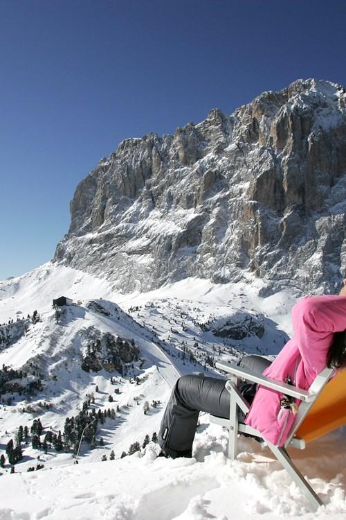 Ski in Selva Val Gardena, Italy deckchair