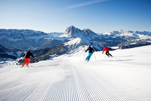 skiing from Selva Val Gardena from Belfast