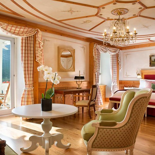 Junior suite at Hotel Cristallo in Cortina, Italy