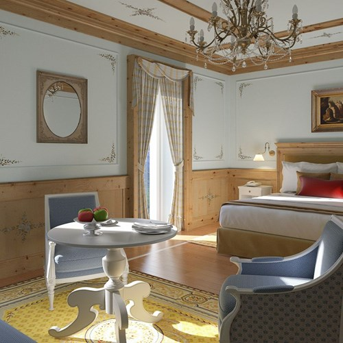 Superior room at the Hotel Cristallo in Cortina, Italy ski accommodation