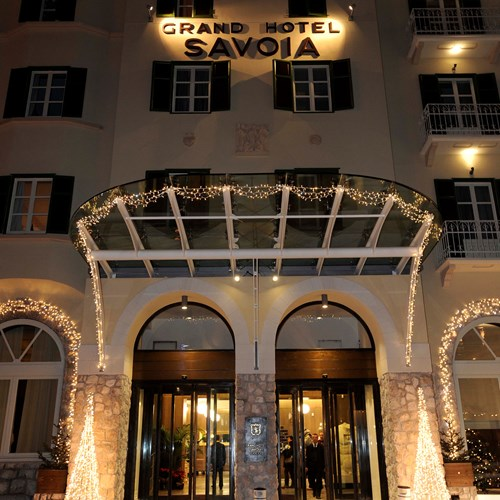 Grand Hotel Savoia Cortina front entrance
