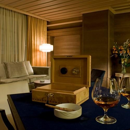 cigar bar at the Grand Hotel Savoia Cortina