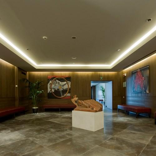 hotel foyer of the Grand Hotel Savoia Cortina