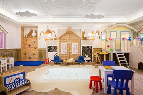 kids club at the Hotel Cristallo in Cortina, Italy
