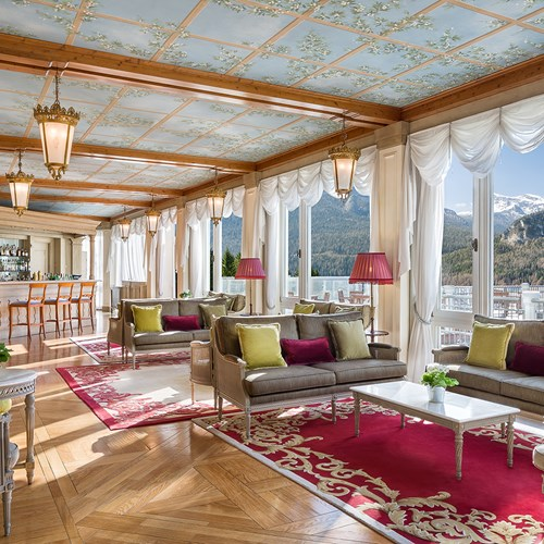 views from the Cristallo Hotel, ski accommodation in Cortina