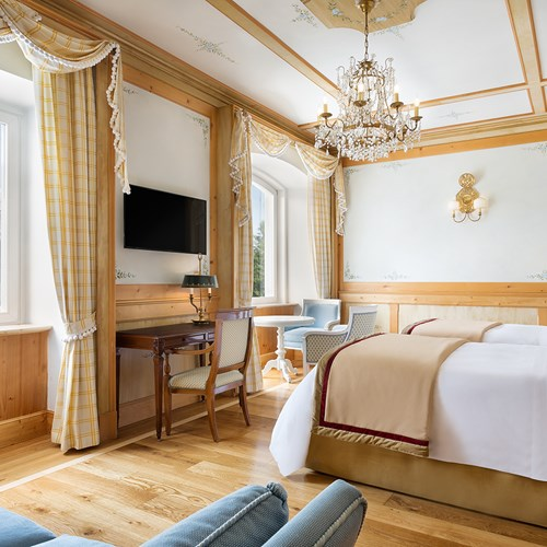 superior twin room at the Hotel Cristallo in Cortina, Italy