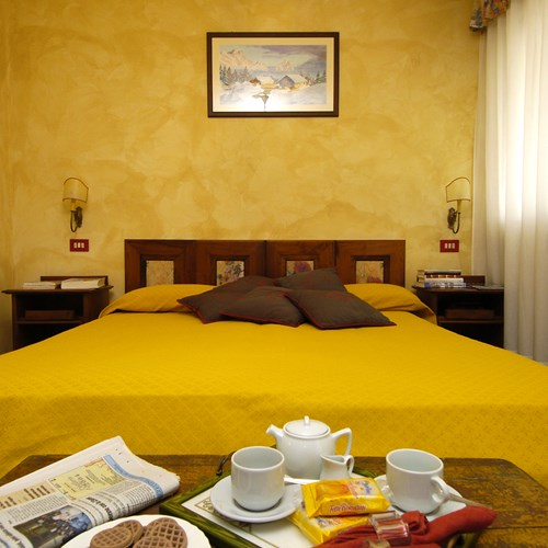 breakfast in bed at Hotel Olimpia Cortina