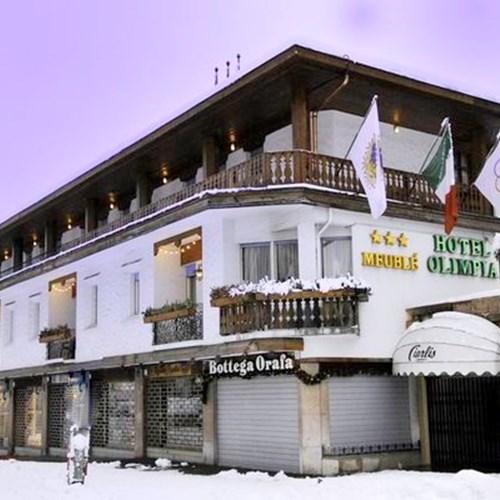 exterior of the Hotel Olimpia Cortina-Italy