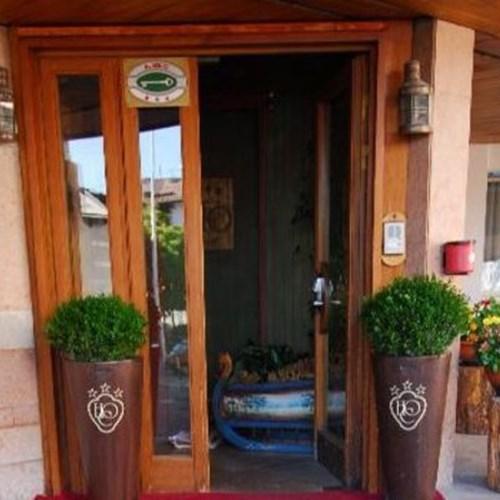 Hotel Olimpia Cortina front door- ski accommodation