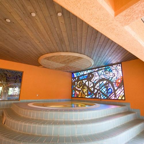 hot tub at Hotel Pavillon Courmayeur