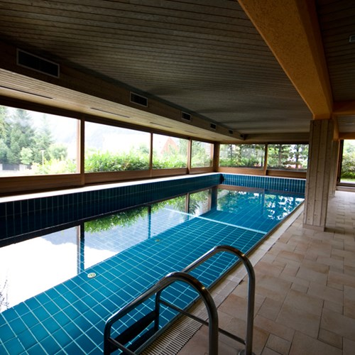 indoor pool at the Hotel Pavillon Courmayeur