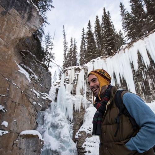 Johnson Canyon Ice Walk, Banff and Lake Louise