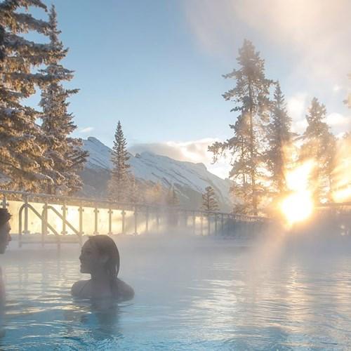 Hot springs in Banff