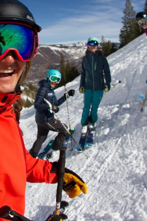 mid week skiing, with mates