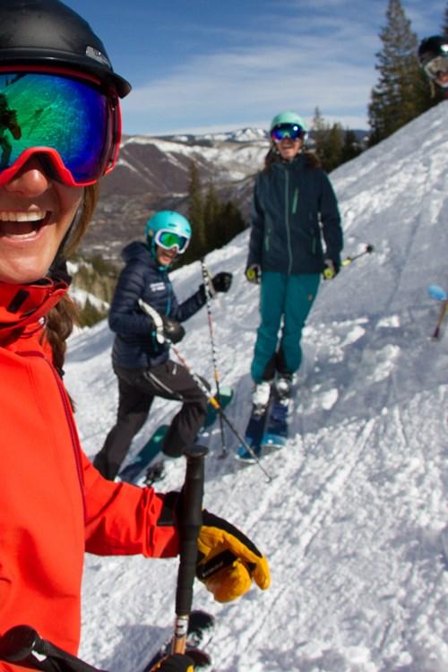 mid week skiing with mates