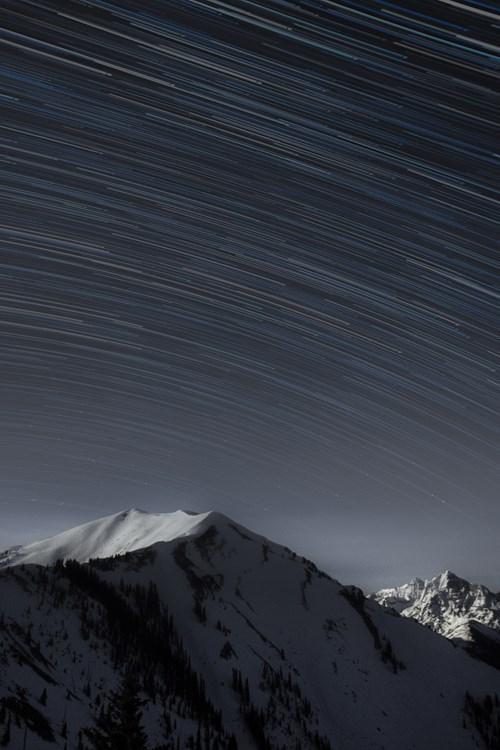 Shooting stars over Aspen