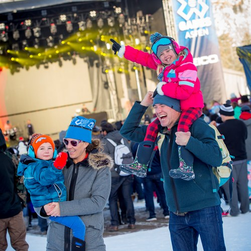 family at the x games aspen