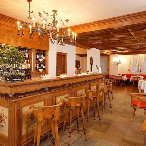 bar at the Hotel Cortina ski accommodation