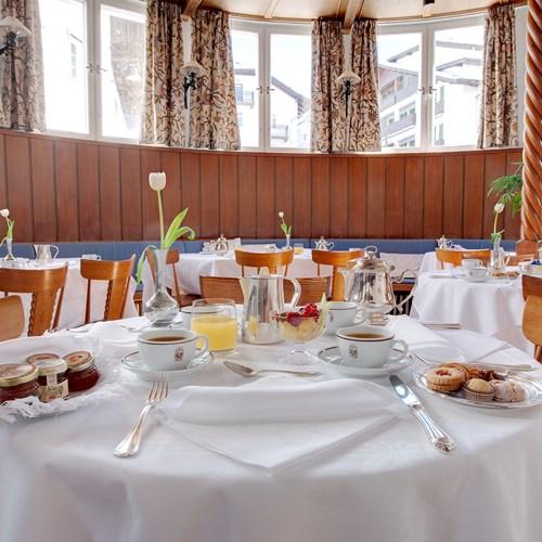 Breakfast at the Hotel Cortina ski accommodation