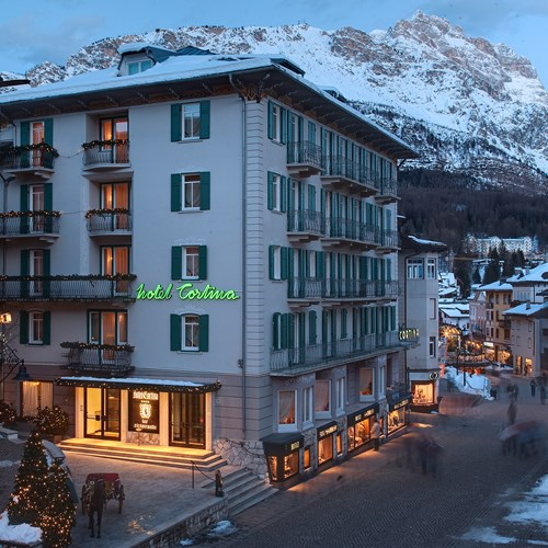 Hotel Cortina ski accommodation exterior