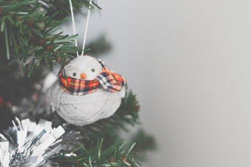 Christmas tree skiing