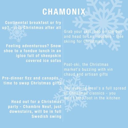 Christmas ski holiday chamonix