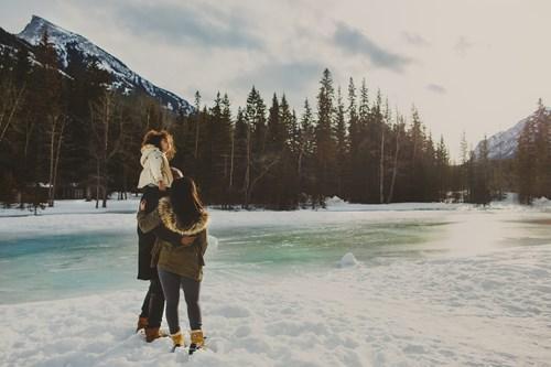 Lake, Banff ski trip