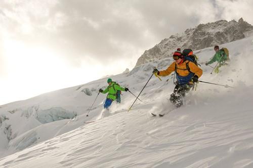 Off Piste skiing in Chamonix - freeriding - Monica Dalmasso