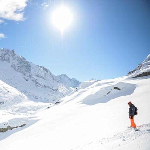 Off piste ski guiding Argentiere Glacier Mcpix Photography