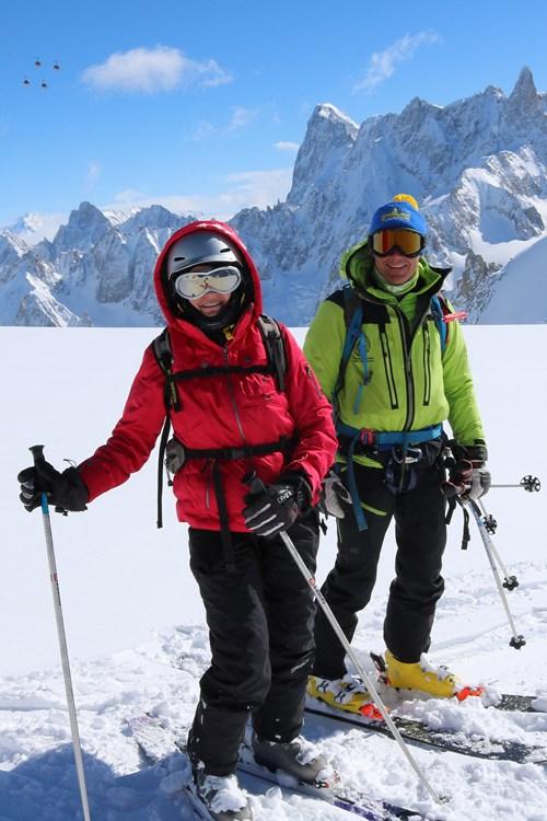Chamonix off piste ski courses, off-piste skiing