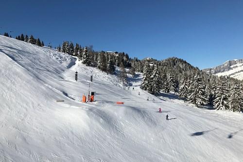 les houches chamonix ski area intermediates