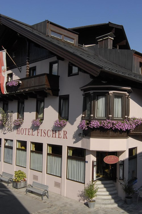 Exterior at Hotel Fischer, ski accommodation in St Johann, Austria