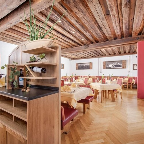 Restaurant at Hotel Fischer, ski accommodation in St Johann, Austria